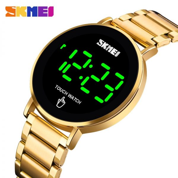 SKMEI 1550 Creative LED Touch Screen Waterproof Digital Wristwatches Luxury Stainless Steel Men Watches Male Clock Dropshipping