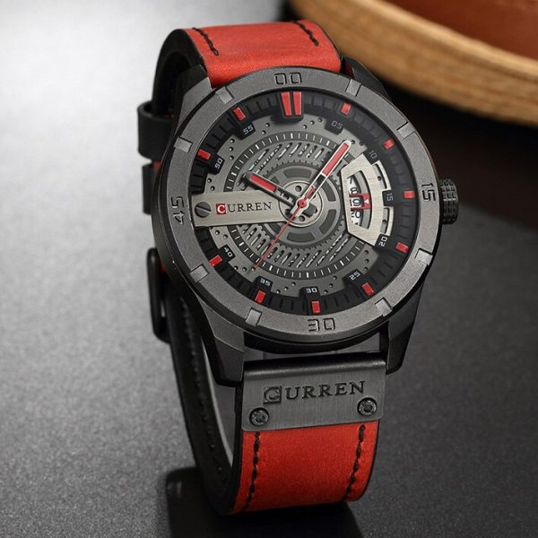 CURREN 8301 Sports Watch Luxury Brand Military Watches Male Analog Date Quartz Watch Men Casual Leather Wrist Watch Dropshipping