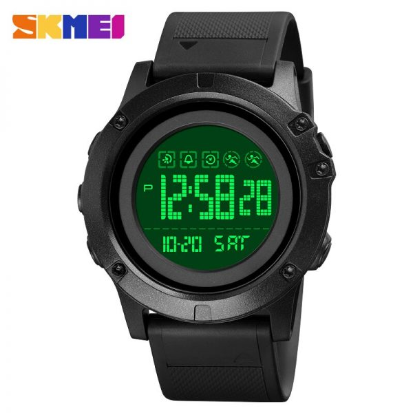 SKMEI Top Brand Digital Male Clock Military 2 Time Stopwatch Countdown Men Sports Watches 50m Waterproof Relogio Masculino 1727