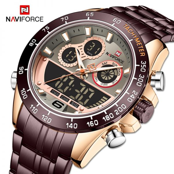 New NAVIFORCE Luxury Business Watch Men Sport Digital Timing Military Quartz Wristwatch Male Waterproof Clock Relogio Masculino