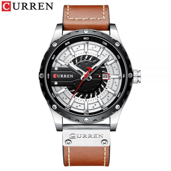 CURREN New Arrival Mens Watches Luxury Brand Sports Quartz Watch For Men Waterproof Wristwatch Leather Strap Date Reloj Hombre
