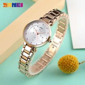 SKMEI Simple Ladies Quartz Wristwatches Luxury Women Business Watches 30M Waterproof Female Clock reloj mujer montre femme 1411