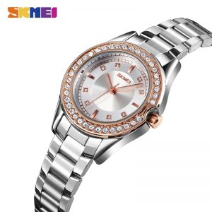 SKMEI Relogio Feminino 1534 Ladies Women Quartz Watch Stainless Steel Bracelet Female Waterproof Wristwatch Clock Montre Femme