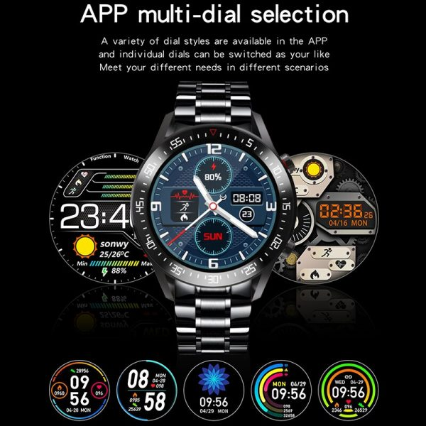 SKMEI LED Digital Men Watches Blood Pressure Heart Rate Monitor Clock Steel Band Electronic Male Wristwatch Relogio Masculino C2