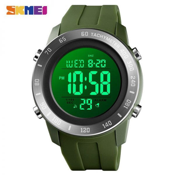 SKMEI Military Men Digital Sport Watches 5Bar Waterproof Stopwatch Count Down Date Male Electronic Clock Relogio Masculino 1524