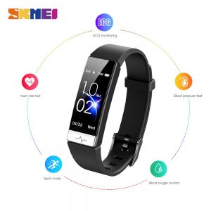 SKMEI Men's Watches ECG PPG HRV Blood Pressure oxygen Heart Rate Monitor Stopwatch Male electronic Clock Relogio Masculino Y91