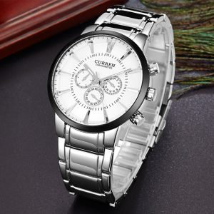 Men Watch Brand CURREN Fashion Business Sport Male Clock Full Steel Quartz Wristwatch Waterproof Hodinky Horloges Mannens Saat