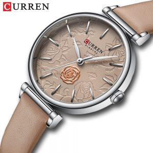 2020 New CURREN Women Top Brand Fashion Casual Watches Leather Quartz Female Wristwatch Ladies Gifts Clock Relogio Feminino 9078