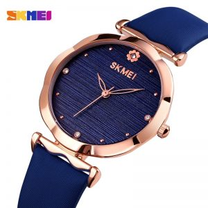 SKMEI 30m Waterproof Simple Women Watches Fashion Flower Shape Dial Ladies Female Quartz Clock Relogio Feminin Montre Femme 1703