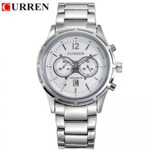 Curren Men Watches Original Luxury Brand Waterproof Full Steel Calendar Display Luxury Clock Curren 8045 Wrist Quartz Watch Sale
