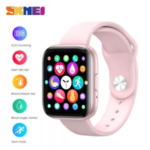 SKMEI T99 Women Men Full Touch Screen Smart Bracelet Heart Rate Monitor Smart Watch Blood Pressure oxygen Tracker Smartwatch