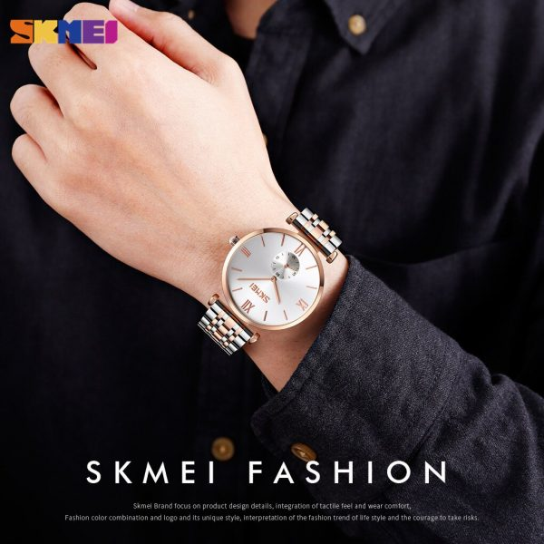 SKMEI Quartz Watch Top Luxury Brand Waterproof Clock Simple Women's Watch Men Wristwatch Relogio Masculino 2020 (2 Style) 9198