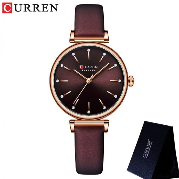 New CURREN Women Watch Fashion Luxury Brand Female Waterproof Clock Stainless Steel Bracelet Fashion Simple Lady Wristwatch 9081