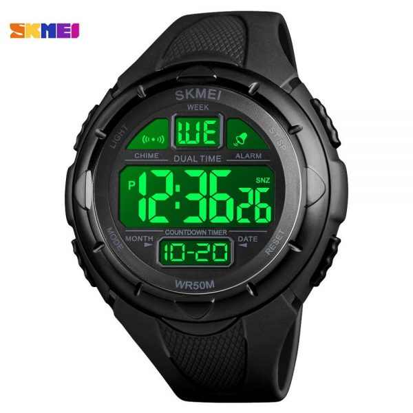 SKMEI LED light Men Digital Wrist Watch Military Stopwatch Countdown Calendar Alarm Male Sports Watches Montre homme 1656 Clock