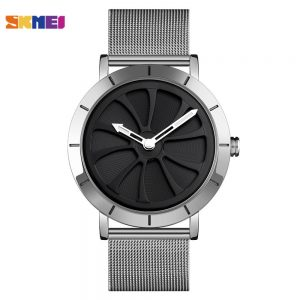 SKMEI Creative Hollow Pattern Watches Men Simple Business Male Wristwatch Male relojes hombre Clock 9204 Gold Rose Black Color