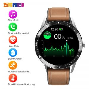 SKMEI Men's Watches Bluetooth Phone Call Play Music Digital Clock Blood Pressure oxygen Heart Rate Monitor Relogio Masculino S1
