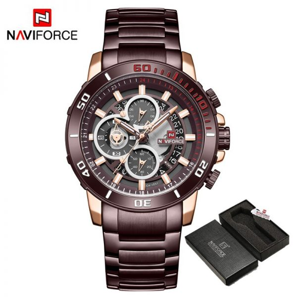 NAVIFORCE Men Sport Quartz Watch Military Luxury Male Stop Watches Business Creative Waterproof Wristwatches Relogio Masculino