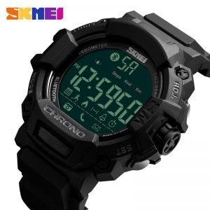 SKMEI LED Display Sports Watches Stopwatch Calories Call Reminder Calendar Men Digital Wristwatch 50m Waterproof Male Clock 1249