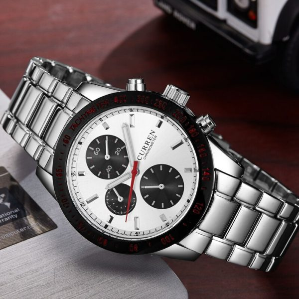Curren Men Watch High Quality 8016 Sport Watch For Men Wrist Watch With Round Dial Stainless Steel Band Promotion Sale Watch