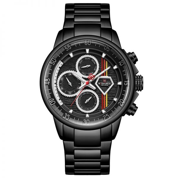 Mens Watches Top Luxury Brand NAVIFORCE Stainless Steel Quartz Watch for Men Business Casual Sports Male Clock Relogio Masculino