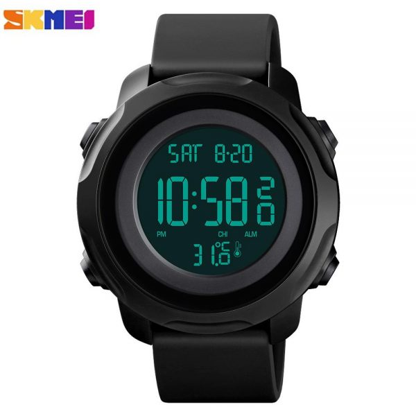 SKMEI 1682 5Bar Waterproof Luminous Male Wristwatches Temperature Measurement Sport Watches Men Digital Clock Relogio Masculino