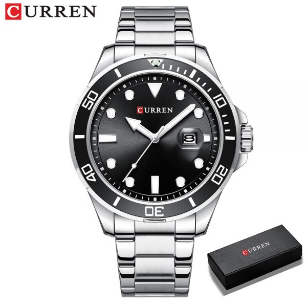 Mens Watches Fashion Brand CURREN Chronograph Watch Men Stainless Steel Quartz Clock Waterproof Sports Watch Relogio Masculino