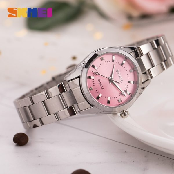 SKMEI Simple Ladies Girl Quartz Watch Top Brand Luxury Womens Watches Female Wristwatch Clock reloj mujer Support Dropshipping