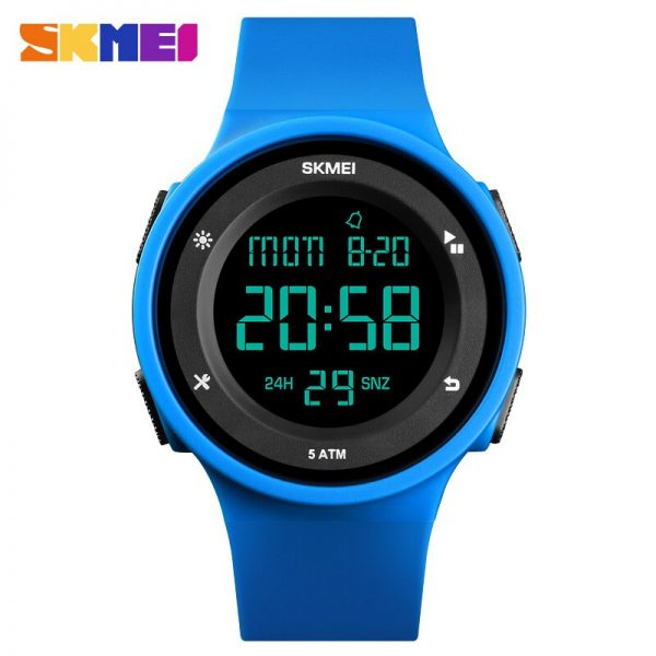 SKMEI Fashion Men Sport Watches LED Digital Calendar Stopwatch Clock Watch 5Bar Waterproof Wristwatch relogio masculino 1445