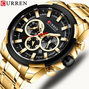 CURREN Top Brand Luxury Men Watches Fashion Watch Casual Quartz Wristwatch With Stainless Steel Chronograph Clock Reloj Hombres