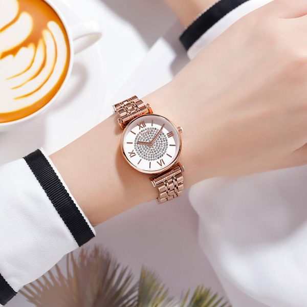 SKMEI Japan Quartz movement Women Ladies Watch Top Brand Stainless Steel Bracelet Female Wristwatch Clock Relogio Feminino 1533