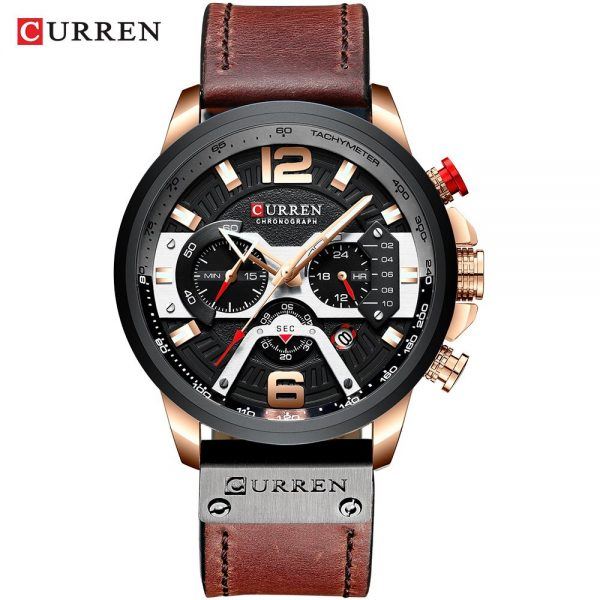 CURREN Top Brand Luxury Watches for Men Casual Fashion Sport Military Leather Wrist Watch Men Watch Chronograph Relojes Hombre