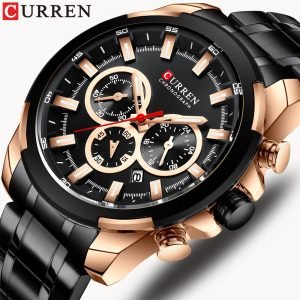 CURREN Men Watch Sport Quartz Chronograph Date Clock Male Watch Stainless Steel Wristwatch Relogio Masculino Waterproof 8361