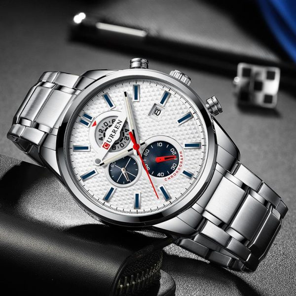 CURREN Watch For Men Fashion Quartz Sports Wristwatch Chronograph Clock Date Watches Stainless Steel Male Watch Dropshopping