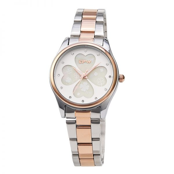 Four Leaf Clover Women Watch Stainless Steel Band Rose Gold Watch For Women Fashion Watch Lady