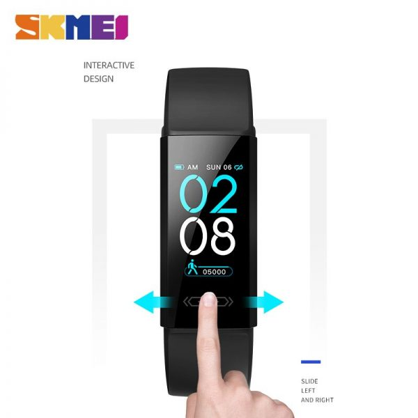 SKMEI New Temperature Measurement Men's Watches Clock Heart Rate Sleep Monitor Male Digital Wristwatches Relogio Masculino V100S