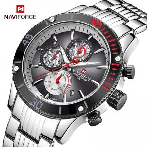 NAVIFORCE Mens Watches Waterproof Sport Military Quartz Wristwatch Multi-function Stainless Steel Clock Male Relogio Masculino