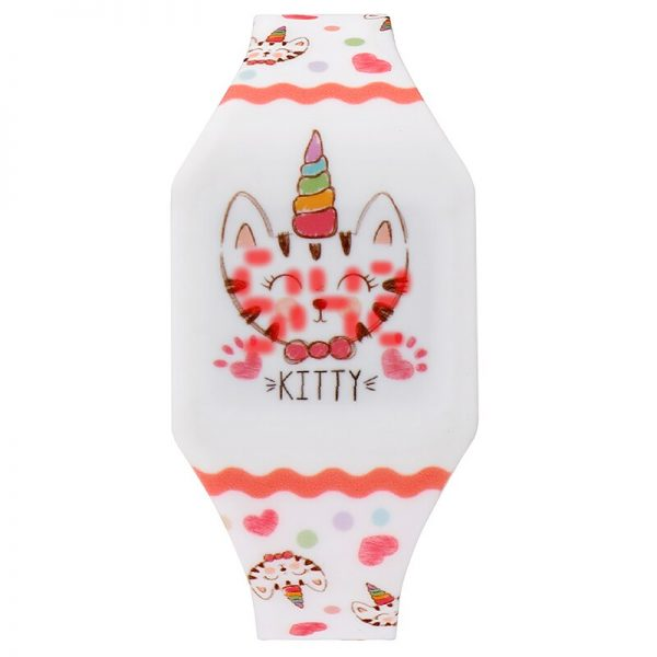 Gift for Kid Digital Watch Kitty Alpaca Mermaid Unicorn Dinosaur Dolphin Cartoon Watch Women Halloween Christmas Gift