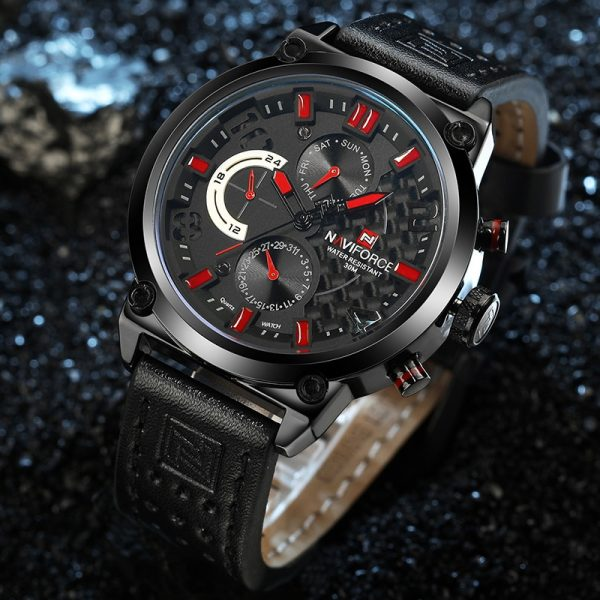 NAVIFORCE Casual Sport Watches Men Top Brand Luxury Military Leather Wrist Watch Male Business Quartz Clock Relogio Masculino