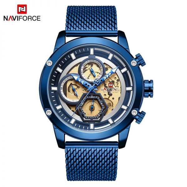 NAVIFORCE Brand Luxury Men's Analog Quartz Wrist watches Man Fashion Sport Chronograph Watch Men Clock Relogio Masculino 2019