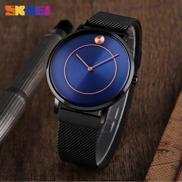 SKMEI Simple Quartz men Watches 2021 Top Brand Luxury Stainless Steel Waterproof Casual Business Watches Relogio Masculino 9197