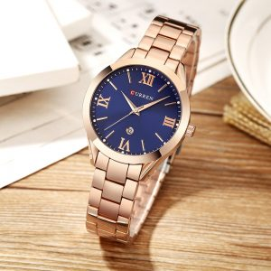 2020 CURREN Fashion Casual Gold Watch Women Watches Ladies 9007 Steel Women Bracelet Watches Female Clock