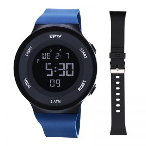 Men Sports Digital Watches Replacable Strap Stopwatch Alarm Chrono Waterproof Unisex