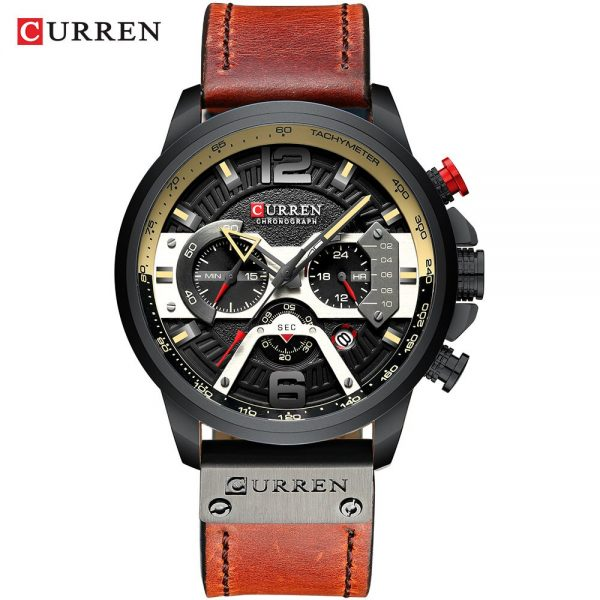 CURREN Top Brand Luxury Casual Sport Watches for Men Military Leather Wrist Watch Man Clock Fashion Chronograph Wristwatch 8329
