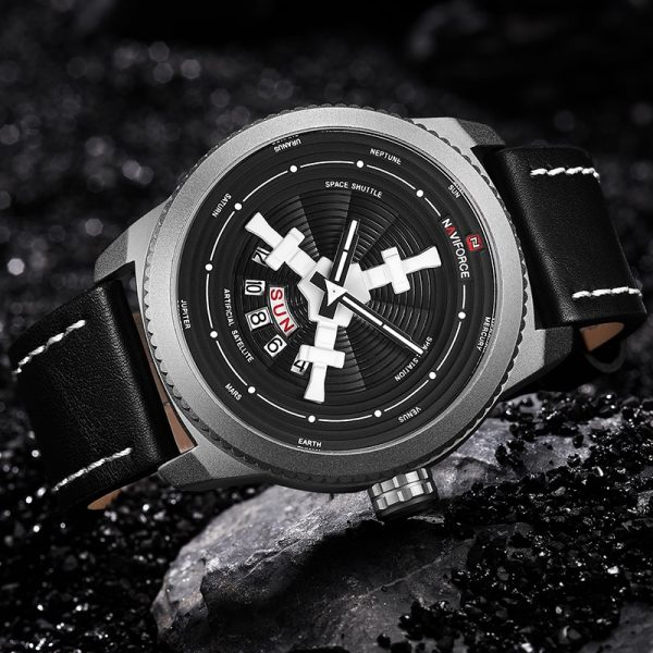 NAVIFORCE Luxury Brand Fashion Sports Watches Military Quartz Men's Wrist Watch Leather Band Waterproof Clock Relogio Masculino