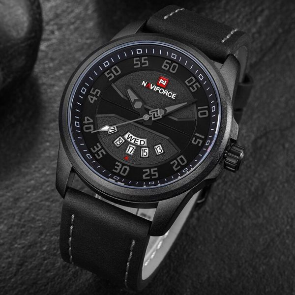 NAVIFORCE Men Fashion Casual Watches Men's Quartz Clock Men Leather Strap Army Military Sports Wrist Watch Relogio Masculino