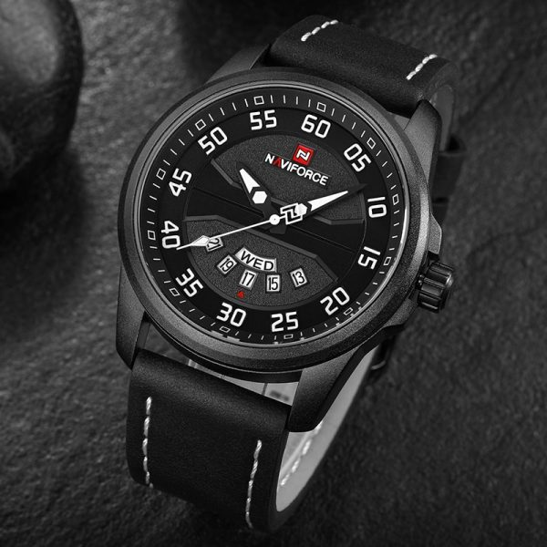 NAVIFORCE Top Brand Luxury Men Army Military Watches Men's Quartz Date Clock Leather Waterproof Sports Watch Relogio Masculino