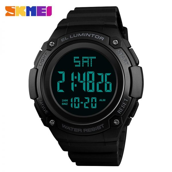 SKMEI Outdoor Men Watch LED Digital Watches 50M Waterproof Wristwatch Men's Male Clock Times Alarm Relogio Masculino 1346