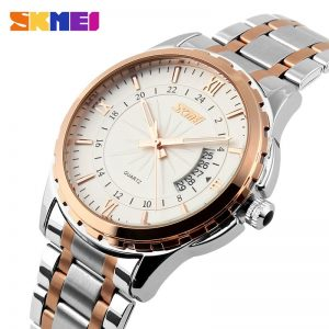 SKMEI 9069 Men Quartz Watch Men Full Steel Wristwatches Dive 30M Fashion Sport Watch relogio masculino 2020 Luxury Brand Watches