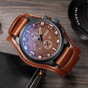 CURREN 8225 Mens Watches Waterproof Top Brand Luxury Calendar Fashion Male Clock Leather Sport Military Men Wristwatch Dropship
