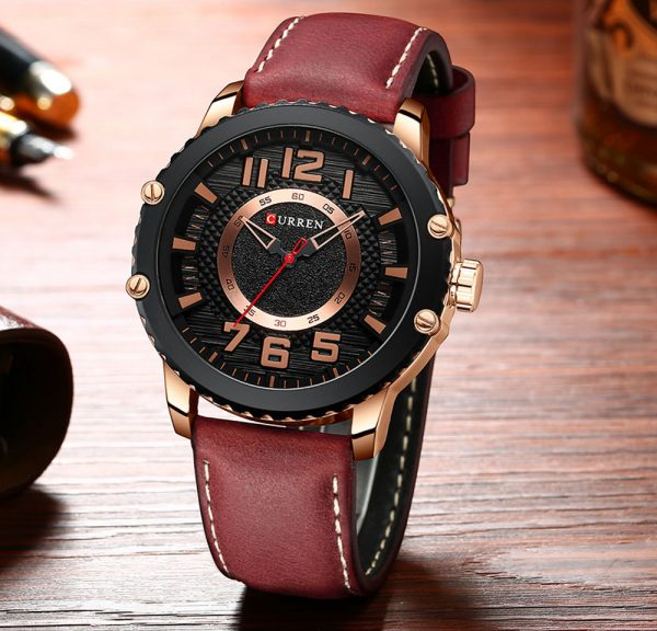 CURREN New Casual Leather Watch for Men Style Sport Quartz Wristwatches Relojes Hombre Unique Design Clock Male Watches